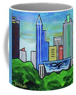 Raleigh Skyline No Perspective 16 X 20 Ratio Coffee Mug