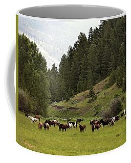 Ranch Horses At Pasture Coffee Mug