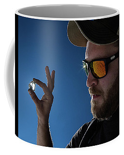 Coffee Mug featuring the photograph Rare Obsidian  by Mike Long