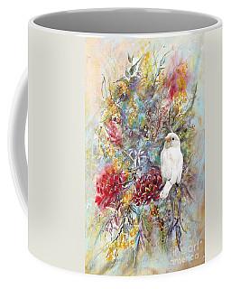 Rare White Sparrow - Portrait View. Coffee Mug