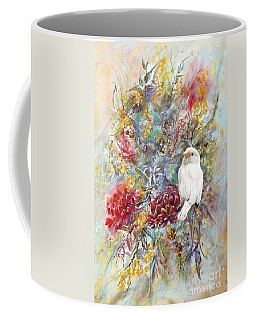 Rare White Sparrow - Portrait View. Coffee Mug