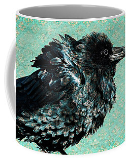 Coffee Mug featuring the photograph Raven Maven by Mary Hone
