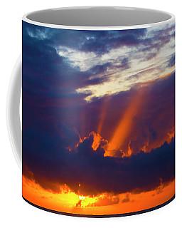 Rays Of Sunlight At Sunset Coffee Mug