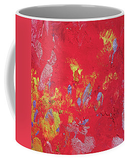 Red Cherry Abstract Painting Coffee Mug