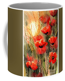 Real Red Poppies Coffee Mug