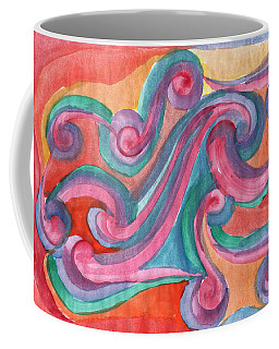 Coffee Mug featuring the painting Red Abstraction by Dobrotsvet Art