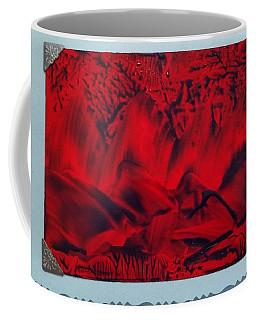 Red And Black Encaustic Abstract Coffee Mug