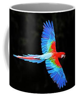 Red And Green Macaw Ara Chloropterus Coffee Mug