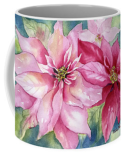 Red And Pink Poinsettias Coffee Mug