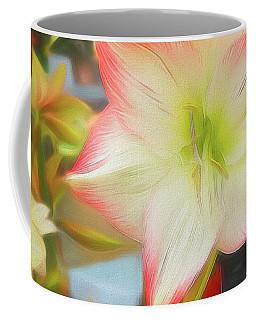 Red And White Amaryllis Coffee Mug