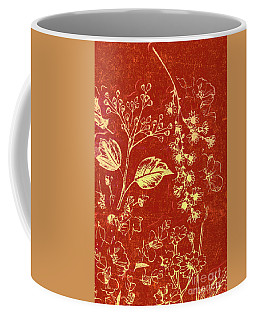 Red Blossoms Coffee Mug