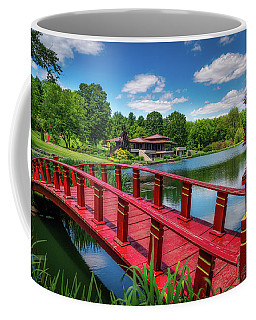 Red Bridge At The Lake House Coffee Mug