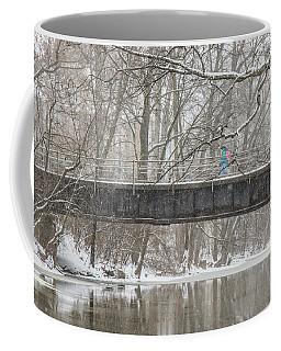 Red Cedar River Michigan State Winter  Coffee Mug