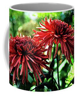 Red Chrysanthemums Coffee Mug