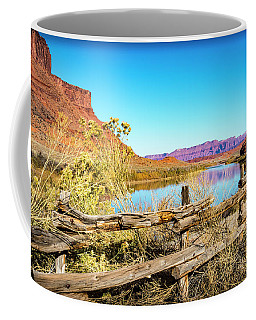 Coffee Mug featuring the photograph Red Cliffs Canyon by David Morefield