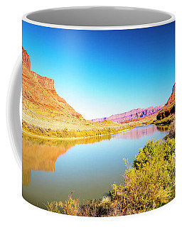 Coffee Mug featuring the photograph Red Cliffs Canyon Panoramic by David Morefield