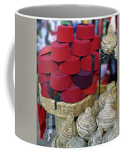 Red Fez Tarbouche And White Wicker Tagine Cookers Coffee Mug