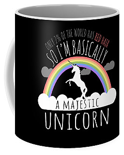 Red Hair Majestic Unicorn Funny Redhead Coffee Mug