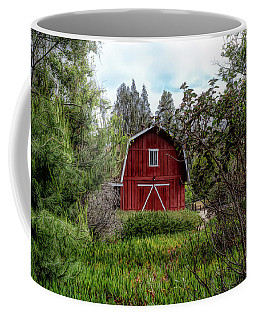 Coffee Mug featuring the photograph Red House Over Yonder by Alison Frank