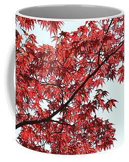 Coffee Mug featuring the photograph Red Japanese Maple Leaves by Debi Dalio