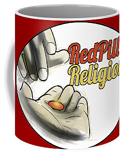Red Pill Religion Logo On Red Coffee Mug