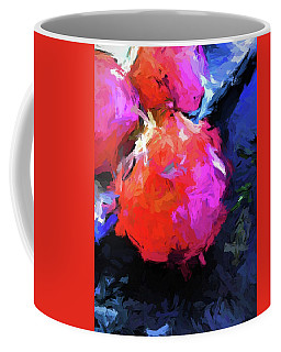 Red Pomegranate In The Blue Light Coffee Mug