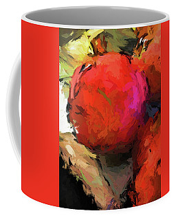 Red Pomegranate In The Yellow Light Coffee Mug