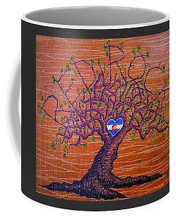 Coffee Mug featuring the drawing Red Rocks Lta W/ Foliage by Aaron Bombalicki