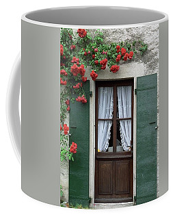 Red Rose Door Coffee Mug