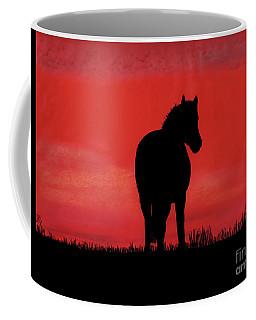Red Sunset Horse Coffee Mug