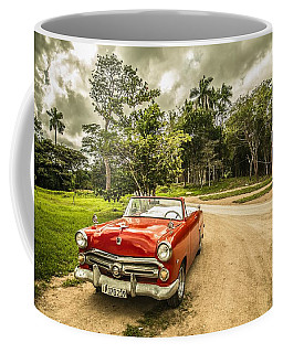 Red Vintage Car Coffee Mug