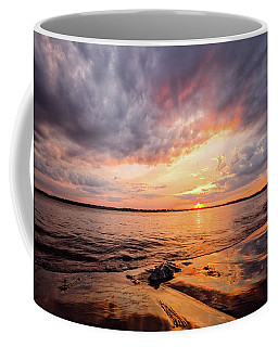 Reflect The Drama, Sunset At Fort Foster Park Coffee Mug