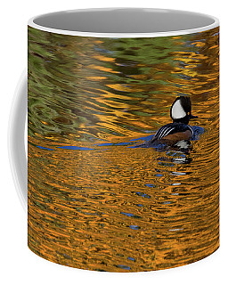 Reflecting With Hooded Merganser Coffee Mug