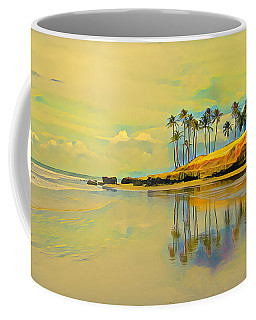 Reflection Of Coastal Palm Trees Coffee Mug