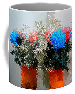 Reflection Of Flowers In The Mirror In Van Gogh Style Coffee Mug