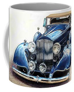 Reflection On Blue Coffee Mug