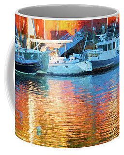 Reflections At Dusk In Camden Harbor, Maine Coffee Mug