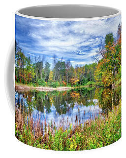 Coffee Mug featuring the photograph Reflections Of Fall In The Finger Lakes by Lynn Bauer