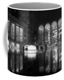 Refuge Under The Umbrella At Lincoln Center Coffee Mug