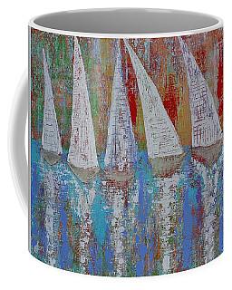 Regatta Original Painting Coffee Mug