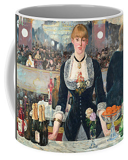 Remastered Art A Bar At The Den Folies Bergere By Edouard Manet 20190309 Coffee Mug