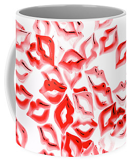 Retro Red Lips Coffee Mug