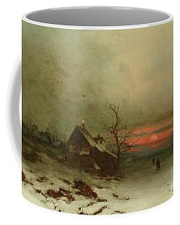 Returning Home At Sunset Coffee Mug