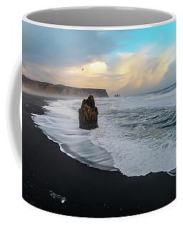 Reynisfjara Beach At Sunset Coffee Mug