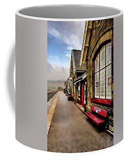 Ribblehead Railway Station Digital Painting Coffee Mug