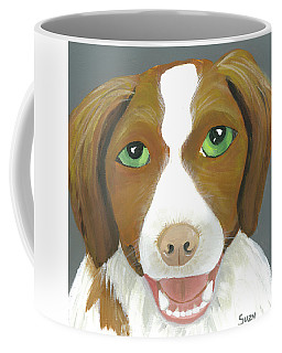 Coffee Mug featuring the painting Riley by Suzy Mandel-Canter