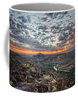 Rio Grande River Sunrise 2 - White Rock New Mexico Coffee Mug