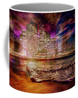 Rising Tide On The Hudson Montage Coffee Mug