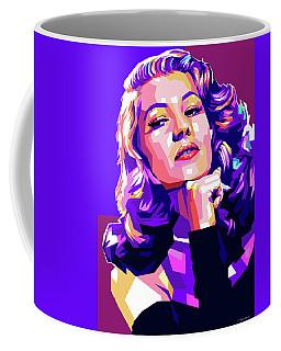 Rita Hayworth Illustration Coffee Mug