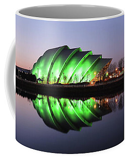Coffee Mug featuring the photograph River Clyde Waterfron Twilight Reflections by Grant Glendinning